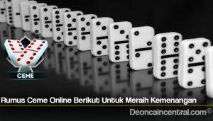 Rumus Ceme Online Berikut Untuk Meraih Kemenangan